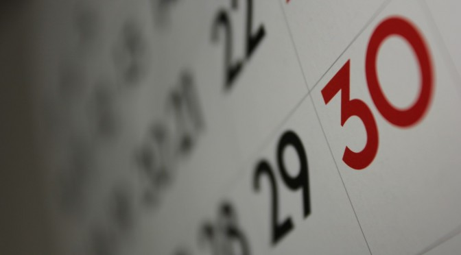 Blurry Calendar - licensed under CC-BY-A, Dafne Cholet