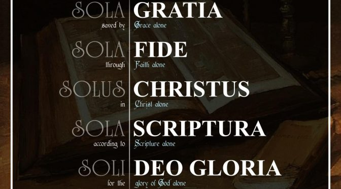 """Reformation Series – """"The Glory of God Alone"""""""